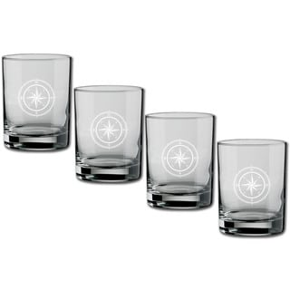 Kasualware 14-ounce Glass DOF Compass Point (Set of 4)