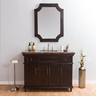 Somette Montgomery Marble Vanity and Mirror