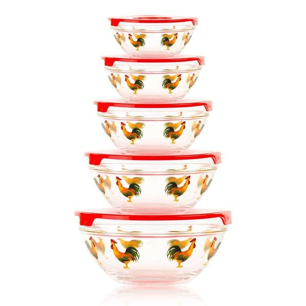 Shop 10 Piece Glass Bowl Or Food Storage Bowls Set With