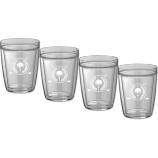 Kraftware Kasualware 14-ounce Doublewall Short Drink Golf (Set of 4)