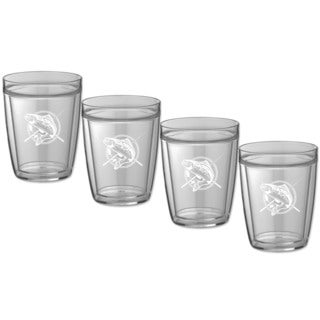 Kasualware 14-ounce Doublewall Short Drink Fishin' (Set of 4)