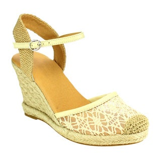 Beston Espadrille Lace Wedge Sandals