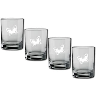 Kasualware 14-ounce Glass DOF Butterfly (Set of 4)