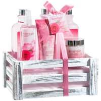 Pink Rose Bath Gift Set