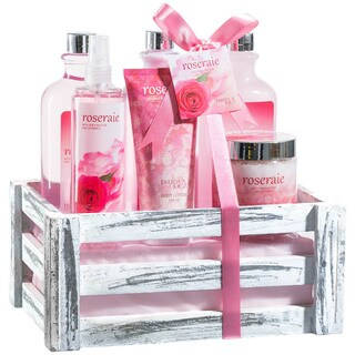 Pink Rose Bath Gift Set