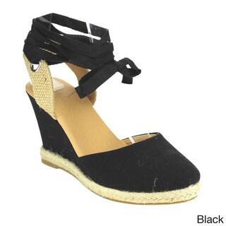 Beston CE04 Women's Platform Espadrille Lace-up Wedge Sandals