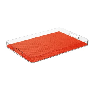 Fishnet Peach Echo Rectangular Tray