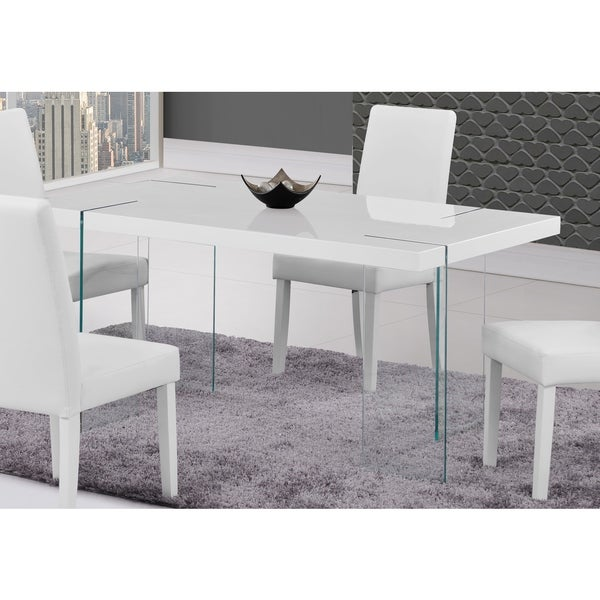 Global furniture white gloss rectangle dining table free for Dining room tables home goods