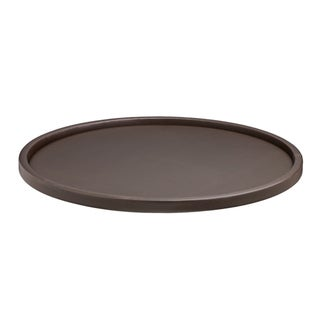 Kraftware Contempo 14-inch Round Serving Tray with 1.5-inch Rim
