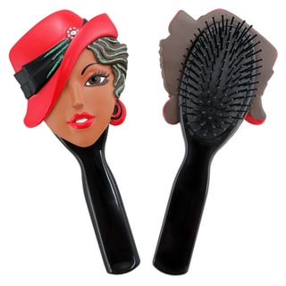 Jacki Design Stylish Black Carrie Style Polyresin Hair Brush