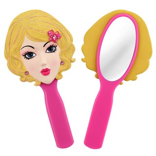 Jacki Design Stylish Black/ Pink Emma Style Polyresin Mirror