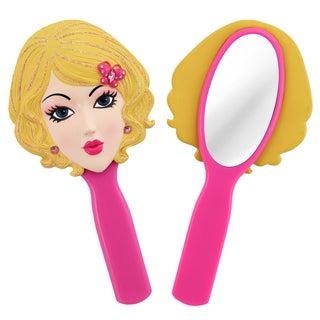 Jacki Design Stylish Black/ Pink Emma Style Polyresin Mirror