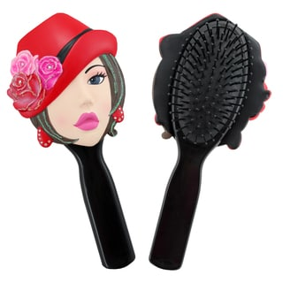 Jacki Design Stylish Black Donna Style Polyresin Hair Brush