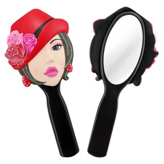Jacki Design Stylish Black Donna Style Polyresin Mirror