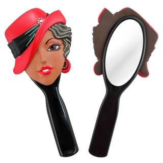 Jacki Design Stylish Black Carrie Style Polyresin Mirror