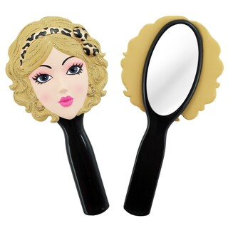 Jacki Design Pin-Up Black Cheetah Style Polyresin Mirror