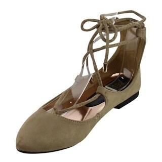 Beston AC26 Women's Lace Up Ankle Starp Low Heel Flats