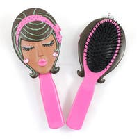 Jacki Design Stylish Pink Angel Style Polyresin Hair Brush