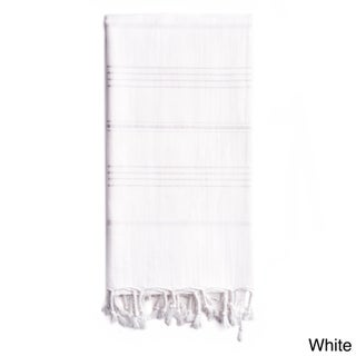 Authentic Pestemal Fouta Sol Tonal Stripe Turkish Cotton Bath/ Beach Towel (Option: White)