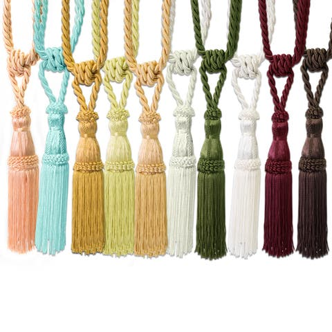 Tassel Curtain Tie Back (Pair) - 11 inches - 11 inches
