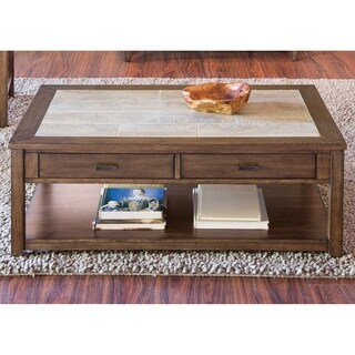 Mesa Valley Tobacco Ceramic Tile Top Cocktail Table