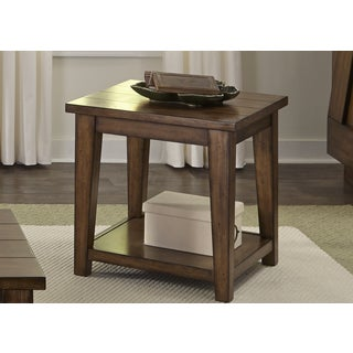 Lancaster II Antique Brown End Table