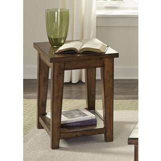 Lancaster II Antique Brown Chair Side Table