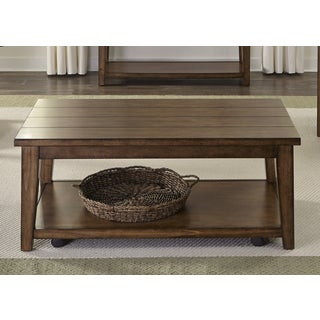 Lancaster II Antique Brown Cocktail Table