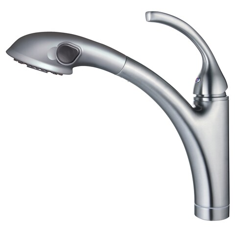 Y-Decor David Single Handle Brushed Nickel Pull-out Kitchen Faucet