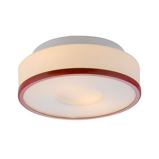 Lynch Opal w/Red Ring Flush Mount Ceiling Light