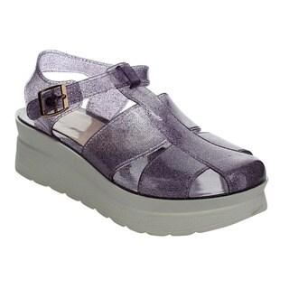 Beston Glitter Jelly Platform Sandals