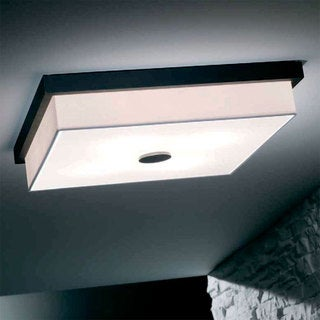 Raphael Square White Flush Mount
