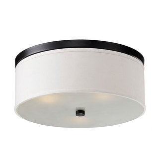 Braxton 20-Inch Round White and Black Flush Mount
