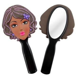 Jacki Design Stylish Black Kelly Style Polyresin Mirror