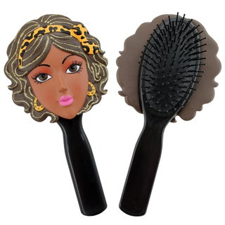 Jacki Design Stylish Black Lola Style Polyresin Hair Brush