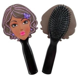 Jacki Design Stylish Black Kelly Style Polyresin Hair Brush
