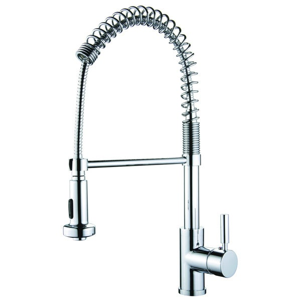 AA Warehousing 'Foreman' Single Handle Kitchen Faucet in Polished Chrome. Opens flyout.
