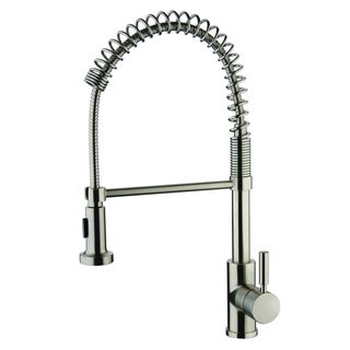 Link to Y-Decor Foreman Single Handle Pull-out Brushed Nickel Finish Kitchen Faucet with Single Mount Pull-out Sprayer Similar Items in Faucets