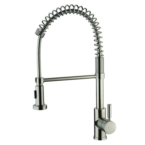Y Decor Foreman Single Handle Pull Out Brushed Nickel Finish Kitchen Faucet  With Single