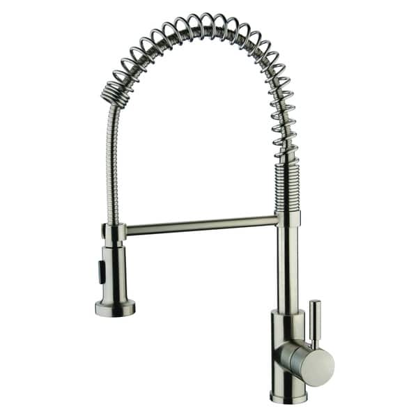 Y Decor Foreman Single Handle Pull Out Brushed Nickel