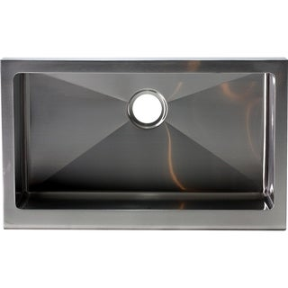 Hardy Apron Farmhouse Single Bowl Stainless Steel Kitchen Sink