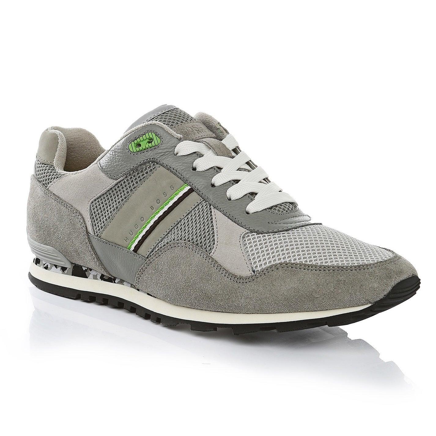 Shop Hugo Boss Grey Runcool Sneakers