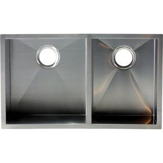 Hardy Undermount Right Angled Sink Double Bowl Stainless Steel Kitchen Sink