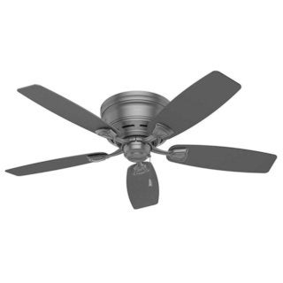 Hunter Fan Sea Wind 48 inch Matte Black with 5 Matte Black Blades