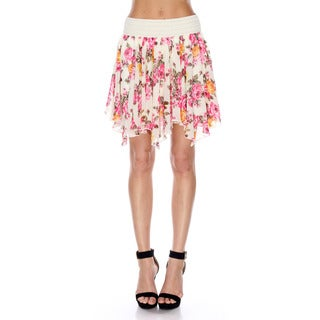 Stanzino Women's Floral Chiffon Mini Skirt
