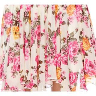 Stanzino Women's Floral Chiffon Mini Skirt