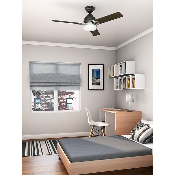 Hunter Summerlin 48 Noble Bronze Ceiling Fan With Light: Hunter Fan Leoni 48 Inches Noble Bronze And Brushed Nickel