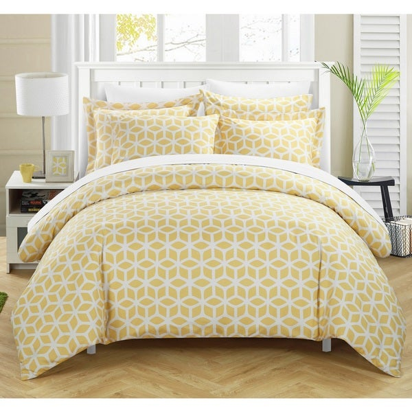 Chic Home Lovey Yellow 3-piece Duvet Cover Set