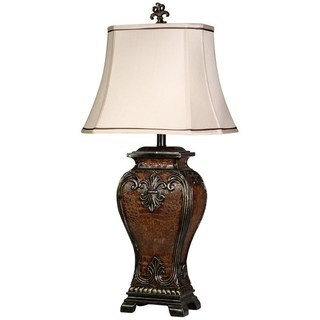 Copper Grove Rennes Traditional Dundee Finish Table Lamp