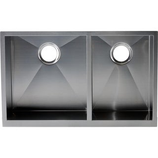 Hardy Apron Farmhouse Sink Double Bowl Stainless Steel Kitchen Sink